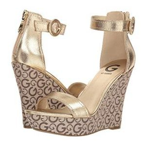 G by GUESS GOLD SLING WEDGE